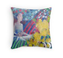 """""""Letting go""""  (letting it fly like a kite in the sky) Throw Pillow"""