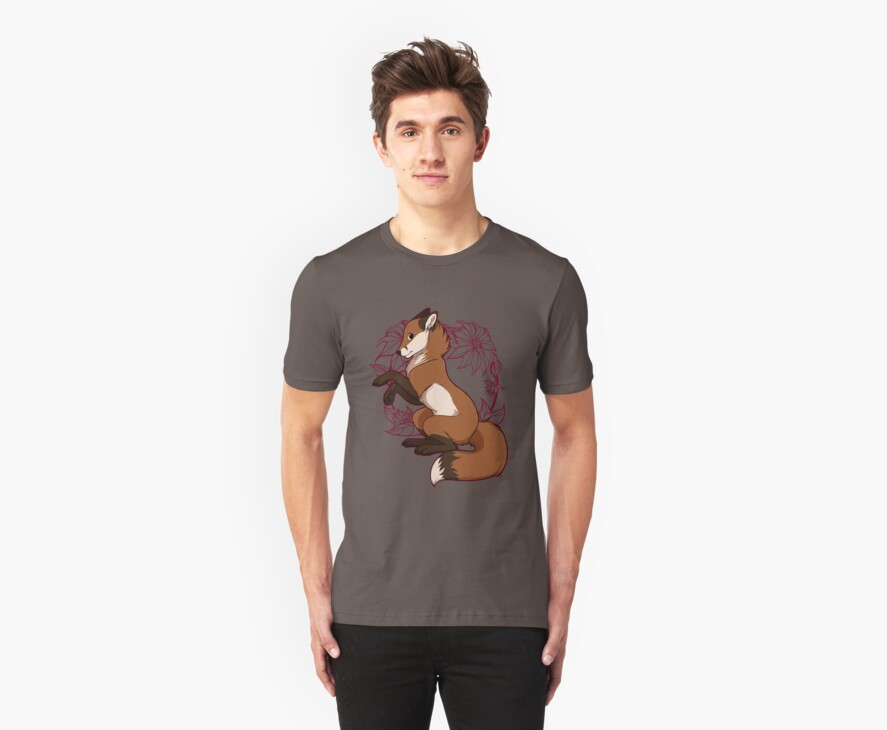 Red Fox Tee - Red by etuix