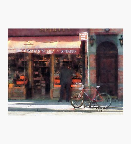 Wines and Spirits Greenwich Village Photographic Print