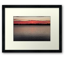Sunset and Light Rays Framed Print