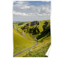 Looking Down Winnats Pass Poster