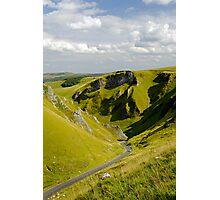 Looking Down Winnats Pass Photographic Print