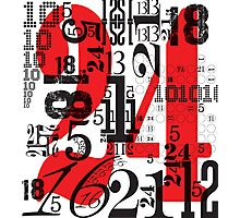 Numbers by Levis Photographic Print
