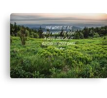 The World is big 3 Canvas Print
