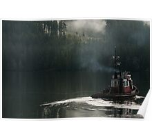 Tug on duty, Port Hardy BC Poster