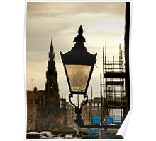 Old street lamp Poster