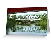 Green Bridge Greeting Card