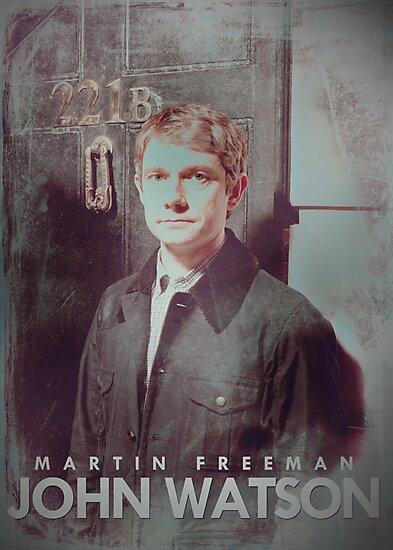 BBC Sherlock John Watson Poster & Prints (Martin Freeman) by curiousfashion