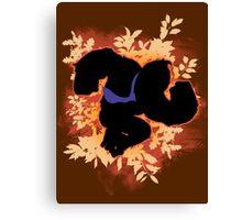 Super Smash Bros. Orange Donkey Kong Silhouette Canvas Print