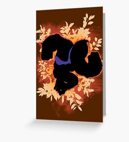 Super Smash Bros. Orange Donkey Kong Silhouette Greeting Card