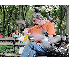 Pigeon Attack Photographic Print
