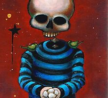 Skeleton Boy with Eggs by Bryan Collins
