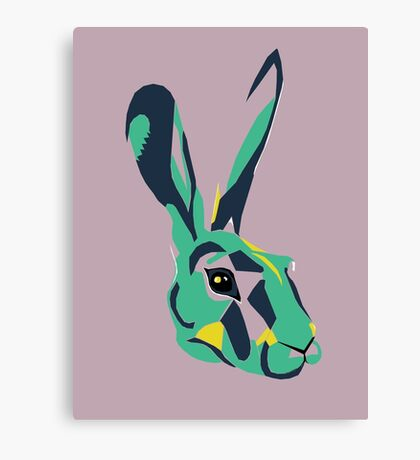 Mr Hare in Pink Canvas Print
