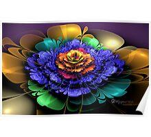 Embossed 3D Bloom Poster