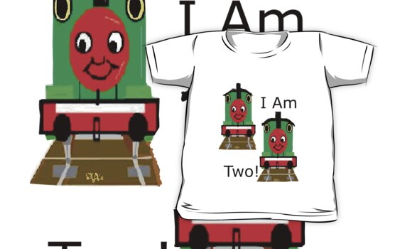 Cartoon Choo Choo Train Tshirt For Two Year Old by dorcas13