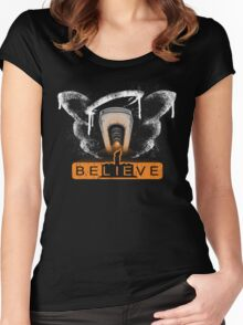be LIE ve in science Women's Fitted Scoop T-Shirt