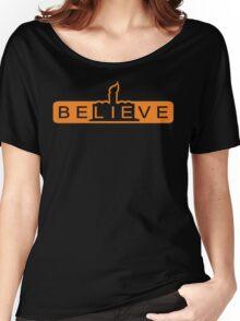 beLIEve orange Women's Relaxed Fit T-Shirt
