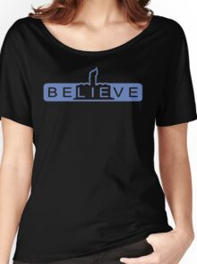 beLIEve blue Women's Relaxed Fit T-Shirt