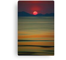 Beach of the Setting Sun Canvas Print