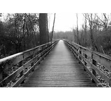Boardwalk in Black and White Photographic Print