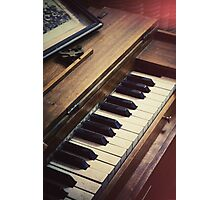 retro piano Photographic Print