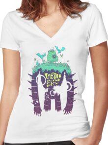 Laputa Robot Women's Fitted V-Neck T-Shirt