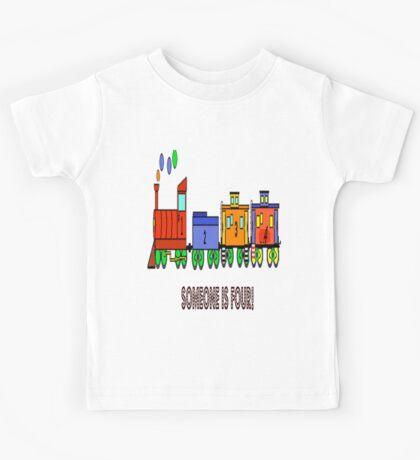 cartoonToy Train I Am Four Toddler Tshirt Kids Tee