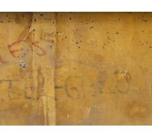 Graffiti on a painted wall Photographic Print