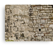 Wall repairs in Yedikule Hisarı (Yedikule Fortress) Canvas Print