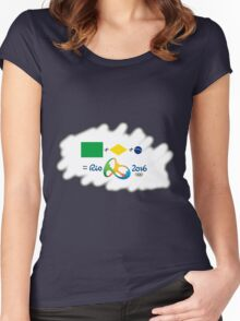 Olympics in Rio 2016, here we are (sfumato) Women's Fitted Scoop T-Shirt