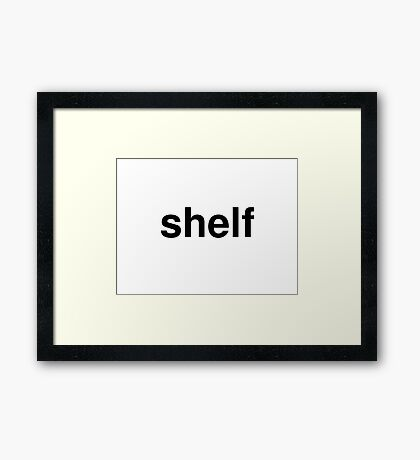 shelf Framed Print