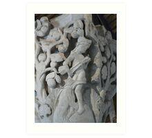 Cluny - stone capital Art Print