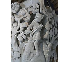 Cluny - stone capital Photographic Print