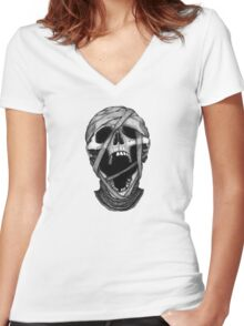 Stack's Skull Sunday No. 5 (The Mummy) Women's Fitted V-Neck T-Shirt