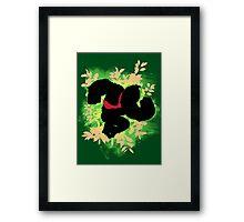 Super Smash Bros. Green Donkey Kong Silhouette Framed Print