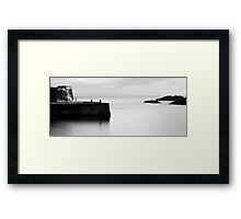 Collieston harbour. Framed Print