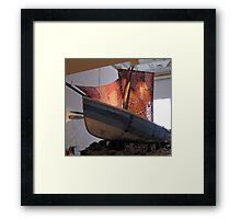 The Knitted Ship Framed Print
