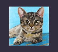 Digitally Painted Portrait of a Cute Little Furry Kitten  Unisex T-Shirt