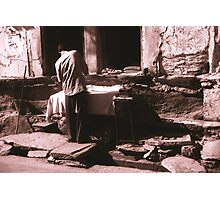 Man Ironing Photographic Print