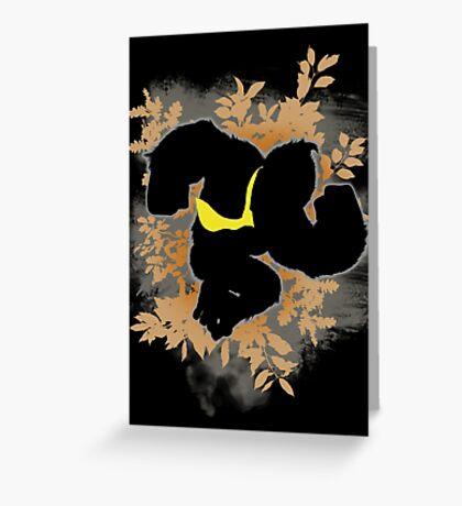 Super Smash Bros. Black Donkey Kong Silhouette Greeting Card
