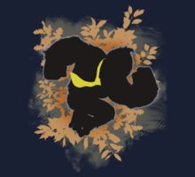 Super Smash Bros. Black Donkey Kong Silhouette Kids Clothes