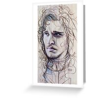 Jon Snow Greeting Card