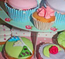 Shabby Chic Cupcakes Sticker