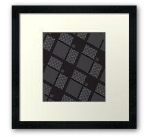Men's Diamonds Framed Print