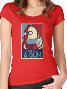 I am not a gun Women's Fitted Scoop T-Shirt