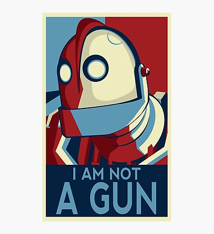 I am not a gun Photographic Print