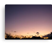 Cold Winter Sky  Canvas Print
