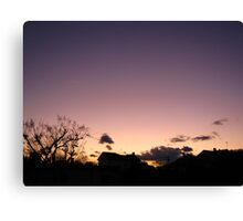 Cold Winter Sky 4 Canvas Print
