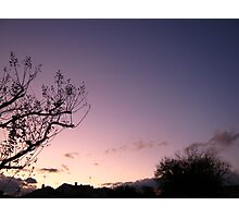 Cold Winter Sky 5 Photographic Print