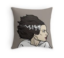 The Bride, Frankenstein Throw Pillow